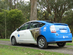 A prototype plug-in hybrid electric vehicle (PHEV)