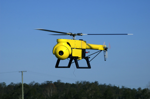 Camclone T21 Unmanned Autonomous Vehicle (UAV) fitted with CSIRO guidance system