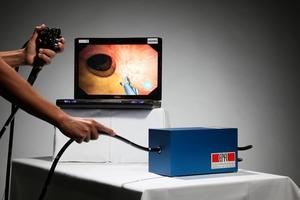 CSIRO's colonoscopy simulator, developed using the latest computer gaming technology