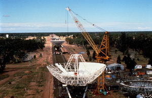 Close-up of Australia Telescope Compact Array Construction