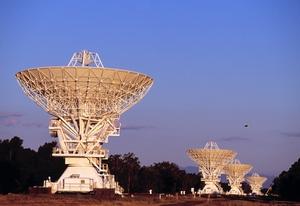 Antennas of CSIRO's Australia Telescope Compact Array