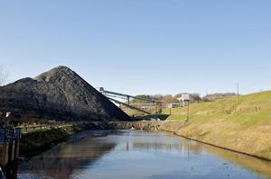 Water storage at a mine