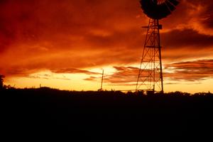 A Windmill at Sunset