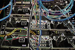 Bioinformatics super computer rack