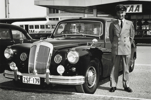 Commonwealth car and chauffeur at Adelaide airport