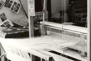 CSIRO weaving loom at a trade show