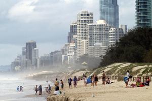 Australian coastline showing storm damage