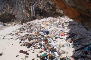 Debris on Christmas Island